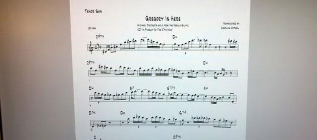 free online saxophone transcriptions